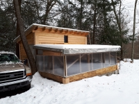 A Greenhouse Design that Supports a Snow Load on the Roof