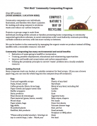 """Dirt Rich"" Community Composting Program"