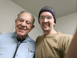 Dr. Francis Cinelli, left; Me, right