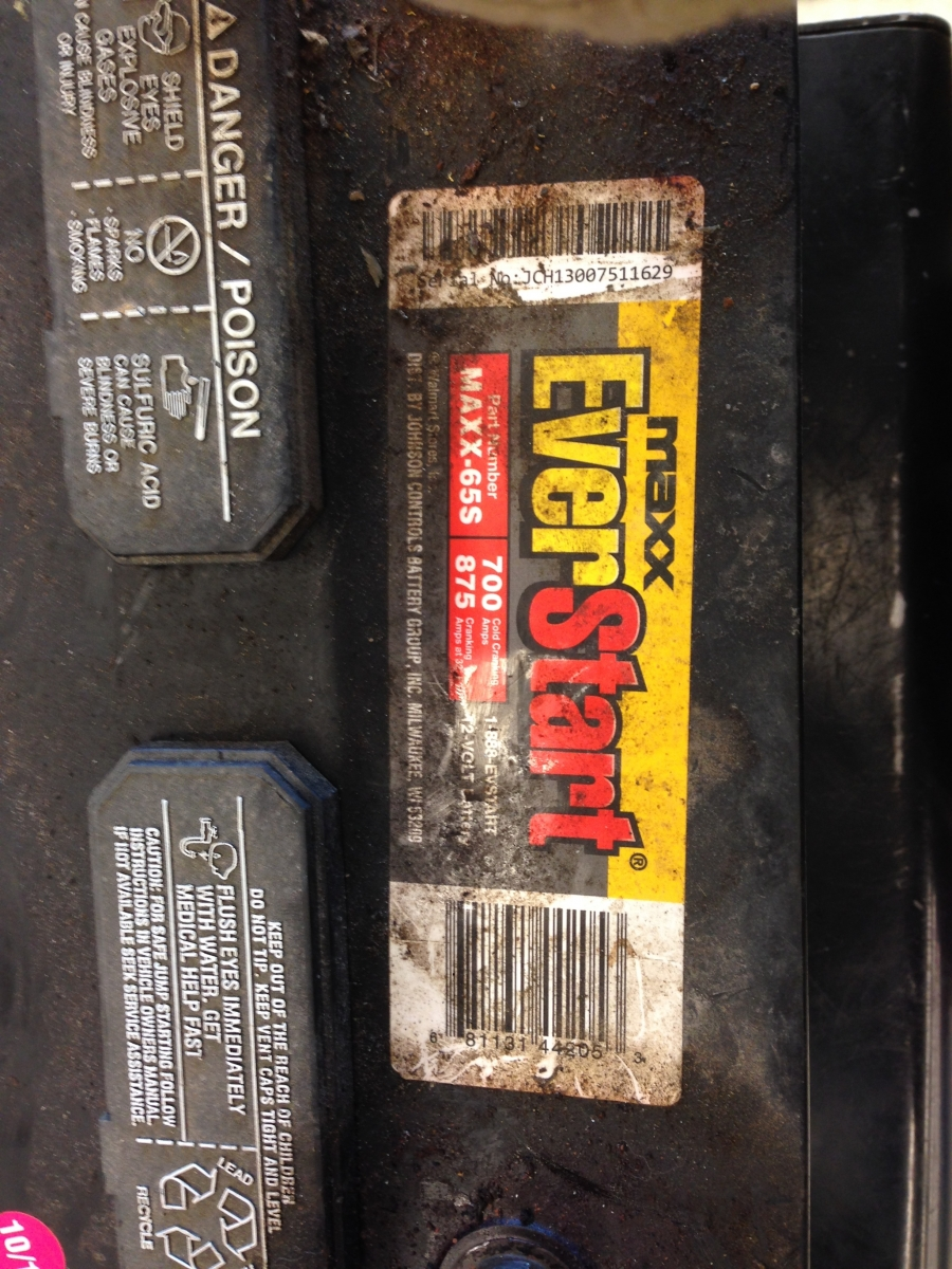 Product Review: EverStart Maxx 12v Battery (WalMart)